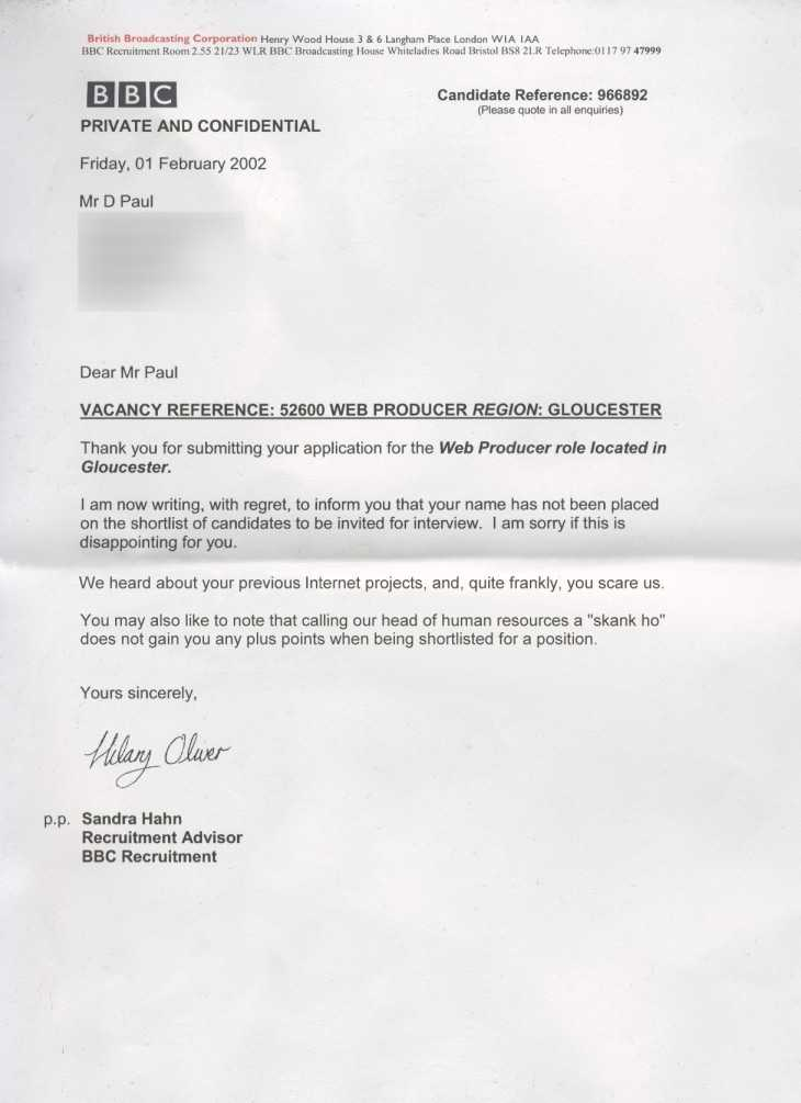 Funny rejection letter from the joke file funny rejection letter altavistaventures Images